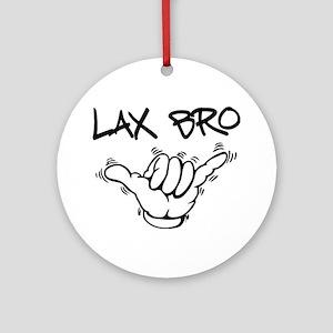 Hang Loose Lax Bro Ornament (Round)