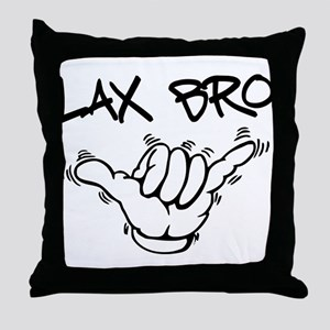 Hang Loose Lax Bro Throw Pillow
