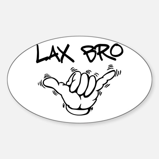 Hang Loose Lax Bro Sticker (Oval)