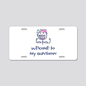 Welcome girl Aluminum License Plate