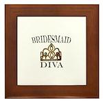 Bridesmaid DIVA Gift Framed Tile