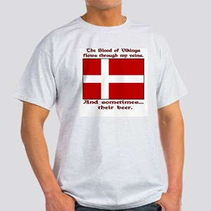 Danish Vikings and Beer Light T-Shirt