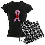 Pink Heart Women's Dark Pajamas