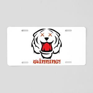 Tiger Blood Winning! Aluminum License Plate