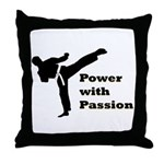 Power with Passion Throw Pillow
