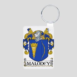 Maloney Coat of Arms Aluminum Photo Keychain
