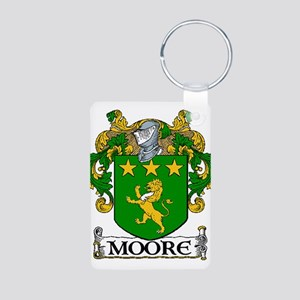 Moore Coat of Arms Aluminum Photo Keychain