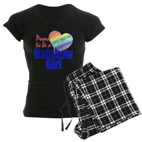 Order of the Rainbow for Girl Women's Dark Pajamas