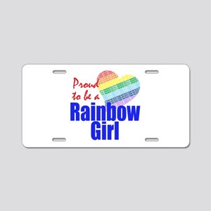 Order of the Rainbow for Girl Aluminum License Pla