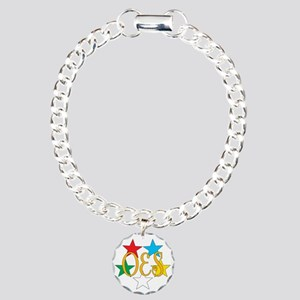OES Circle of Stars Charm Bracelet, One Charm