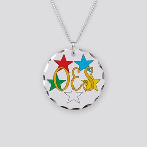 OES Circle of Stars Necklace Circle Charm