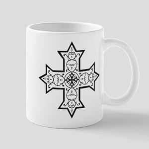 Coptic Cross BW Mug