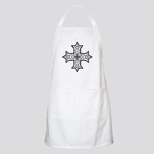 Coptic Cross BW Apron