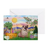 Pug easter Greeting Cards (10 Pack)