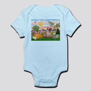 Easter Pug Infant Bodysuit
