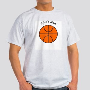 "Personalized ""Basketball Mom"" Ash Grey T-Shirt"