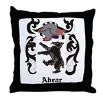 Abear Coat of Arms Throw Pillow