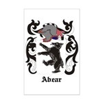 Abear Coat of Arms Mini Poster Print
