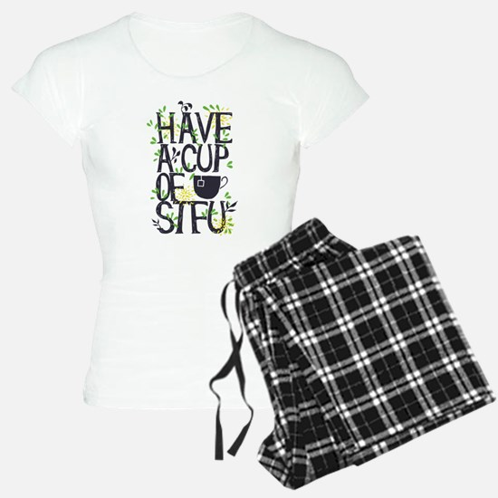 Have a Cup of Shut the F Up Pajamas