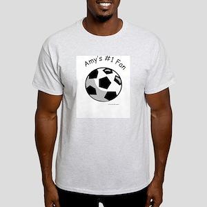 Personalized #1 Fan Ash Grey T-Shirt
