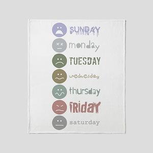 Fonts of the Week Throw Blanket