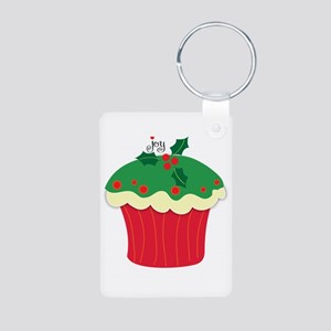 Christmas cupcake Aluminum Photo Keychain