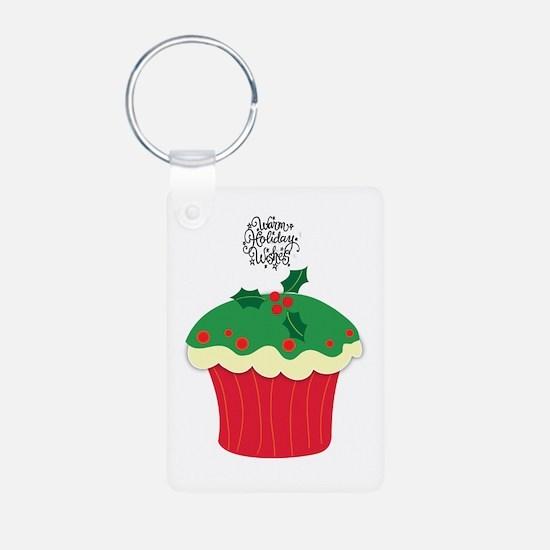 Christmas cupcake Keychains