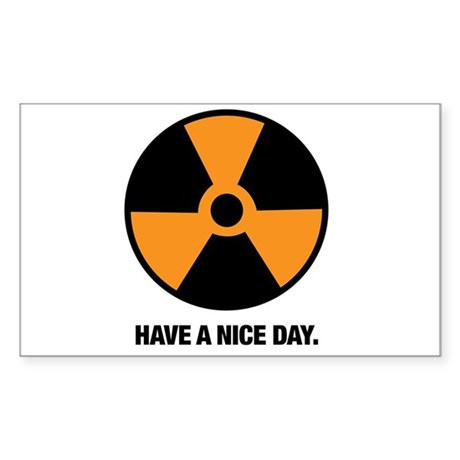 HAVE A NICE DAY. Sticker (Rectangle)