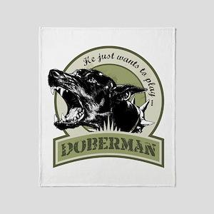 Doberman Throw Blanket