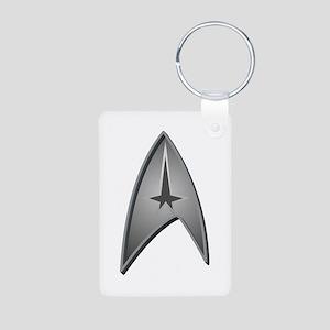 Star Trek Logo silver Aluminum Photo Keychain