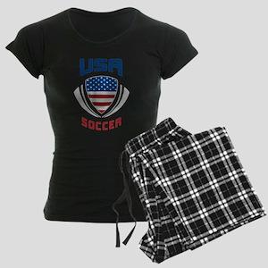 Soccer Crest USA blue Women's Dark Pajamas