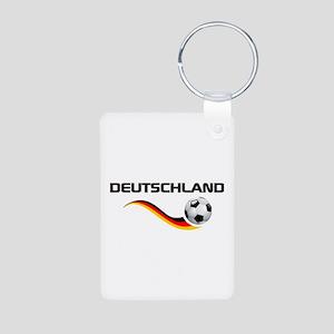 Soccer DEUTSCHLAND Aluminum Photo Keychain