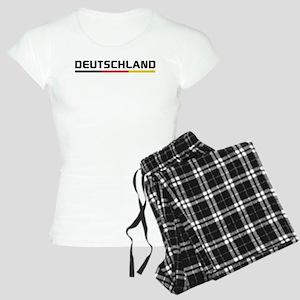 Soccer DEUTSCHLAND Stripe Women's Light Pajamas
