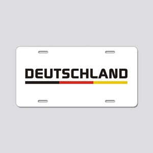 Soccer DEUTSCHLAND Stripe Aluminum License Plate