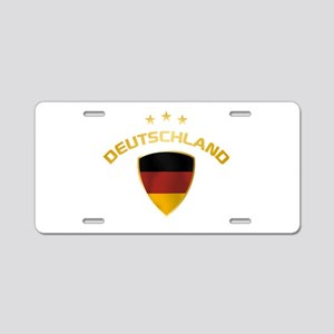 Soccer Crest DEUTSCHLAND gold Aluminum License Pla