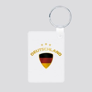 Soccer Crest DEUTSCHLAND gold Aluminum Photo Keych