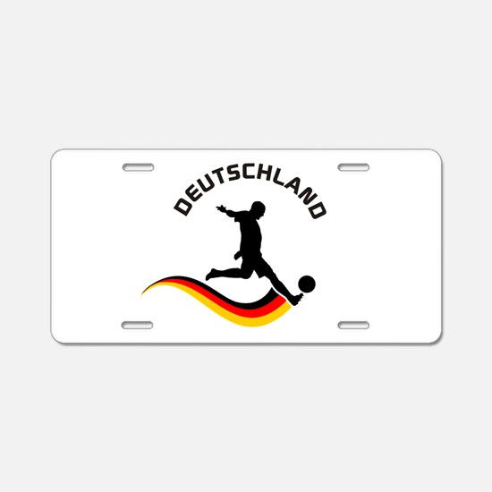 Soccer DEUTSCHLAND Player Aluminum License Plate
