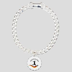 Soccer DEUTSCHLAND Player Charm Bracelet, One Char