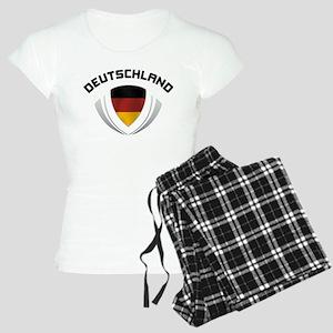 Soccer Crest DEUTSCHLAND Women's Light Pajamas
