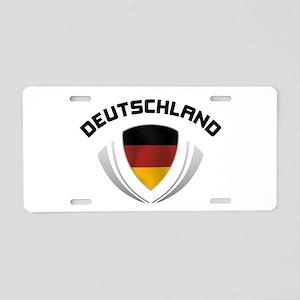 Soccer Crest DEUTSCHLAND Aluminum License Plate