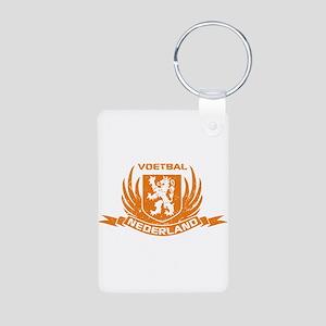 Voetbal Nederland Cres Aluminum Photo Keychain