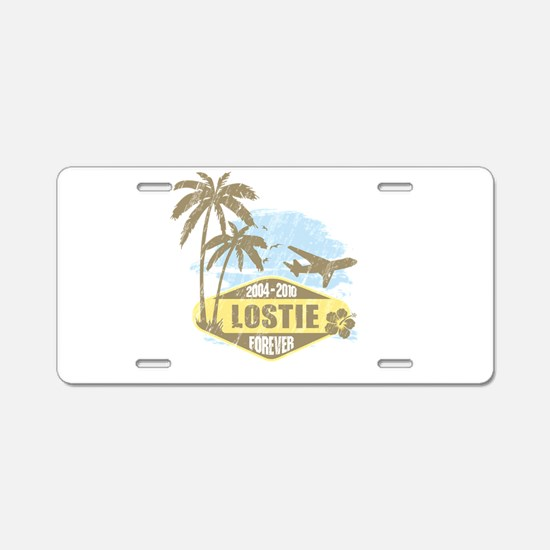LOST - Lostie yellow Aluminum License Plate