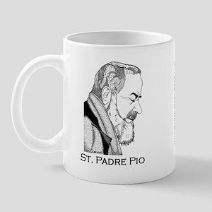 Padre Pio Signature Mug - Pray, Hope Mugs