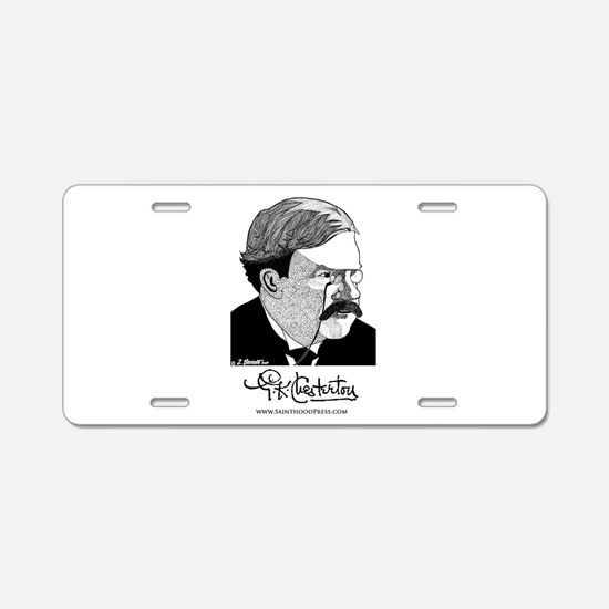 G.K. Chesterton Aluminum License Plate