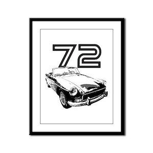 1972 MG Midget Framed Panel Print