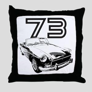 1973 MG Midget Throw Pillow