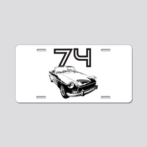 1974 MG Midget Aluminum License Plate