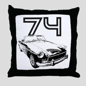 1974 MG Midget Throw Pillow