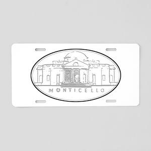 Monticello Aluminum License Plate
