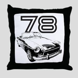 1978 MG Midget Throw Pillow